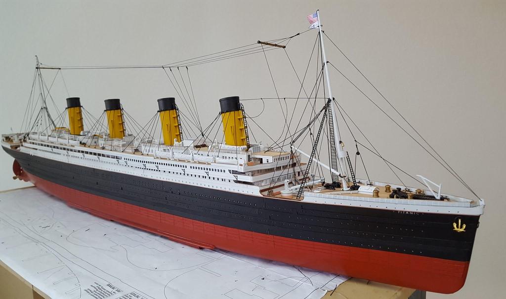 Maquette Bateau Bois Le Titanic