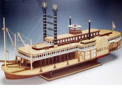 maquette bateau bois mississippi
