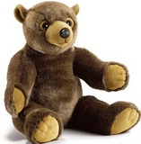 Peluche ourson,noiset, marron,peluche anima